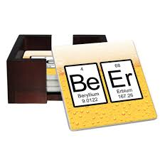 Beer Periodic Table Beer Periodic Table Of Elements Coaster Set Sandstone Tile 4