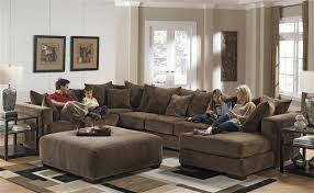 4 piece sectional in chocolate fabric by jackson 4305 4