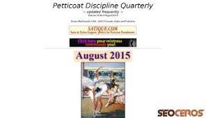 petticoat disciple quarterly castre petticoated com review seo and social media analysis from seoceros