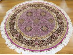 Round Persian Rug by Violet Round Silk Oriental Style 5 U0027 X 5 U0027 Carpet Handmade Geometric