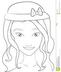 with a hat coloring page stock illustration image 51089070