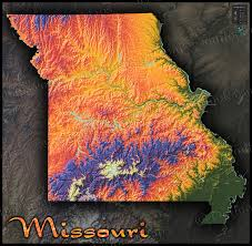 Minnesota Topographic Map Missouri Colorful Topography Physical Map Of Natural Features