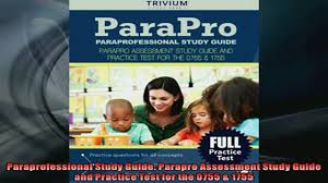 free download paraprofessional study guide parapro assessment