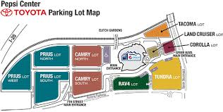 pepsi center floor plan parking directions pepsi center