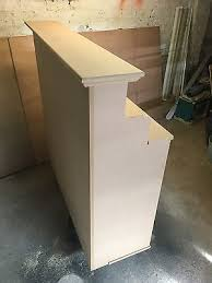 podium style reception desk salon shop reception cash desk french style shabby chic in raw mdf