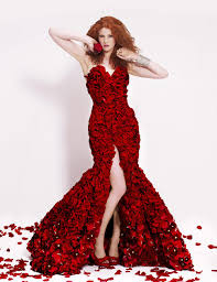 gorgeous red roses gown red roses rose and gowns