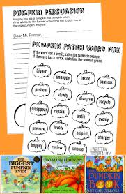 printable pumpkin worksheets learning fun written