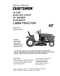 craftsman ez3 917 271141 owner s manual