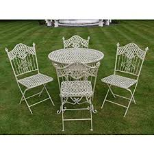 Shabby Chic Patio Furniture by Shabby Chic Antique Cream Garden Furniture Wrought Iron Patio Set