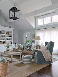 Living Rooms With Area Rugs Cottage Style Living Rooms With Area Rug And Sheer Curtain And
