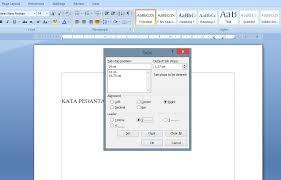 cara membuat garis pada daftar isi makalah cara membuat daftar isi dengan titik titik otomastis di word