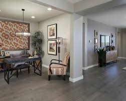 meritage homes home office transitional with cage lamp alcove