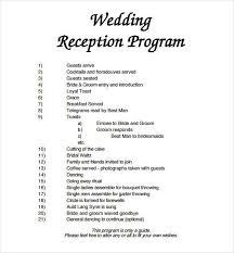 wedding party program template wedding reception program template free invitation template