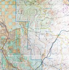 Prescott Arizona Map by Trail Map Of Bradshaw Mountains Prescott National Forest Arizona
