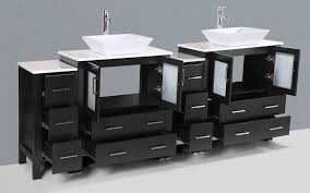 contemporary 84 inch espresso square vessel sink bathroom vanity