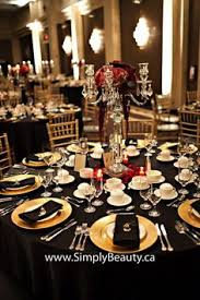 black and white and gold and room tables
