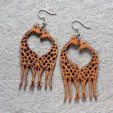 giraffe earrings earrings femail creations