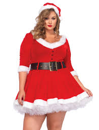costumes plus size size mrs santa christmas costume