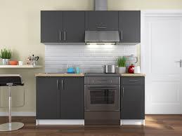 plan de travail avec rangement cuisine complète blanche avec plan de travail bois 180 cm maia