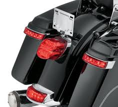 harley davidson lights accessories electra glo led saddlebag run brake turn l chrome housing red