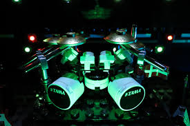Drum Set Lights Tama Drum Kit You Know That Moment Before The Band Comes O U2026 Flickr
