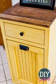wooden kitchen trash bins home design ideas