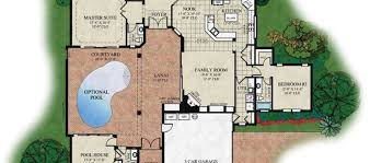 House Plans With Pools by Florida House Plans With Pool On Florida Floor Plans With