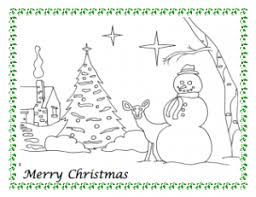 snowman christmas coloring freeology