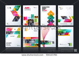 technical brochure template business vector set brochure template layout stock vector