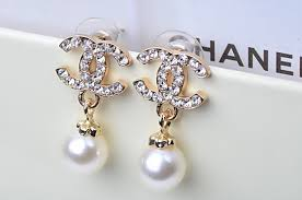 cc earrings the new earrings fashion cc small sweet studs pearl earrings