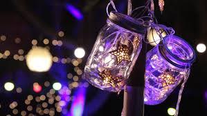 christmas star lights on mason jar stock footage video 31559599