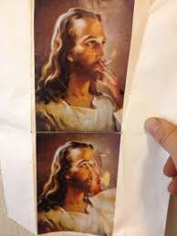 Jesus Crust Meme - found a pic of smoking jesus in the laundry room meme collection
