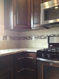 Images Of Tile Backsplashes In A Kitchen Kitchen Backsplash With Accent Strip Design By Dennis