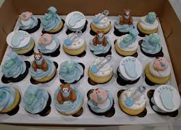 Baby Shower Centerpieces For A Boy by Boy Baby Shower Blue Theme Cupcakes Baby Shower Blue Boy Baby