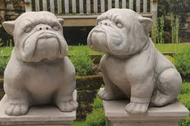 1 bulldog statues garden ornaments animals ebay
