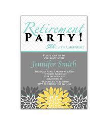 retirement invitation wording formal retirement party invitation template card sle momecard