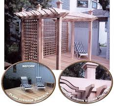 wooden cedar pergola kit custom made by new england woodworks