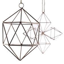 geo wire ornament accent decor