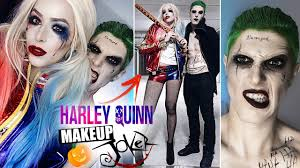 harley quinn and joker maquiagem halloween arlequina e