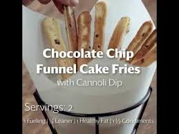chocolate chip funnel cake fries with cannoli dip youtube