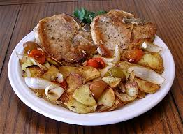 Lidia Bastianich Recipes Friday Recipe One Pan Pork Chops With Potatoes And Sweet Cherry