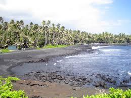 punalu u0027u black sand beach on the big island