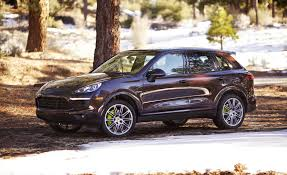 porsche suv blacked out 2017 porsche cayenne s e hybrid test review car and driver