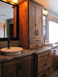 Bathroom Built In Furniture Bathroom Reclaimed Wood Bathroom Vanity For Access And Storage