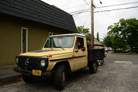 mercedes pickup old parked cars 1980 mercedes benz 300gd pickup truck