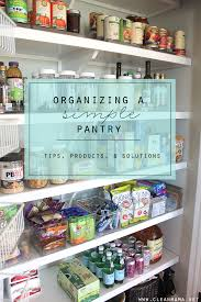 How To Organize A Pantry With Deep Shelves by Organizing A Simple Pantry Clean Mama