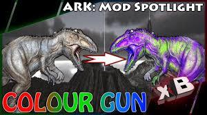 dino paint gun mod spotlight ark survival evolved youtube