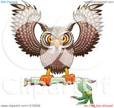 clipart of a halloween owl flying with a severed witch arm