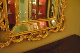 Beveled Mirror Hand Carved Wood Gold Italian Beveled Mirror Leffler U0027s Antiques