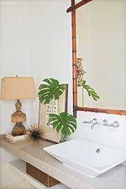 large gold bamboo mirror vanity decoration